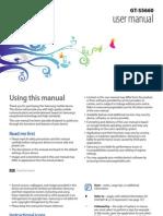 Samsung Galaxy Gio Manual
