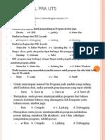 Latihan Soal Pra UTS borland C++