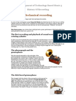The Development of Technology-Based Music 5 - History of Recording