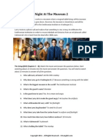 TEFL Movie Class Worksheet - Night at the Museum Teacher Key 2 (with answers)