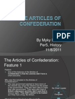 The Articles of Confederation PROJECT