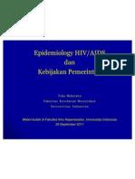 Epid Hiv Aids Dan Kebij Pmth - Fikui 29 September 2011
