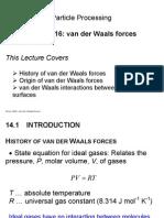 CHEE2940 Lecture 16 - Van Der Waals