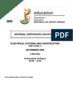 Elec Systems & Construct l3 Qp Nov 2009