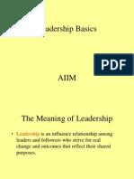 Leadership Basics