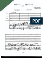 Shostakovich - Piano Quintet Op 57 (String Quartet + Piano) Score