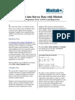 Minitab Survey Analysis With ANOVA and More