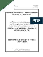 Relatório das Audiências Públicas
