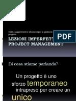Lezioni Imperfette Di Project Management