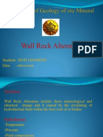Advanced of Geology of Ore Mineral