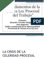 Fundamentos de La Nueva Ley Procesal Del Trabajo