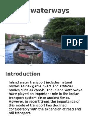 Inland Waterways Ppt | Transport | Water Transport