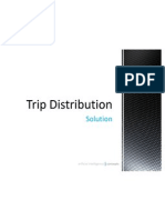 Trip Distribution Example solution