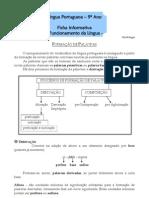Ficha Informativa - 9º ano - Formação de Palavras