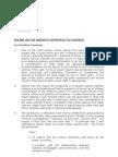 Approach to Evidence 7 Nov 2011
