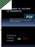 7. Management of Children in Emergencies