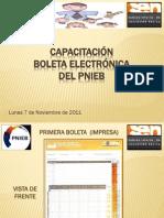 Capacitación Boleta Electrónica Alfredo