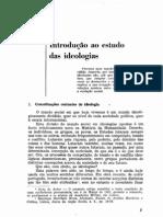 Sedas Nunes, Aderito. Introdução ao Estudo de Ideologias