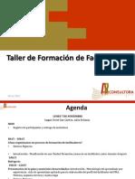 AGENDA TALLER DE  FORMACIÒN