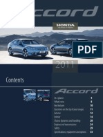 Honda Accord press release 2011
