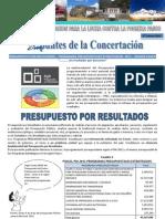 Apuntes de La Concertacion 2da Edicion, 2011 Presupuesto Por Result a Dos Final