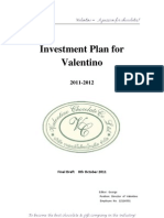 Investment Plan for Valentino - 20111010