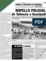 Atropello Policial de Valencia a Guasipati