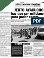 Puerto Ayacuco hay que ser miliciano para poder comer