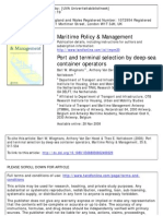 Wiegmans Et Al, Port and Terminal Selection, Martime P & M, 2008