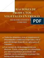 Alteraciones de Productos Vegetales en Fresco