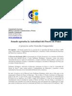 Senado aprueba la Autoridad del Puerto de Ponce (y Proyecto de Custodia Compartida
