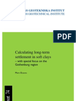 SGI-R74_Calculating Long-term Settlement in Soft Clays