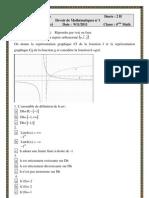 Devoir de mathématique N°1- 4MATH-2011_2012