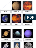 3-Part Cards PLANETS