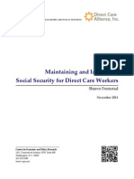 Maintaining and Improving Social Security for Direct Care Workers