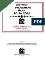 District Improvement Plan 2011-2012