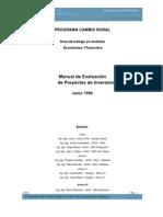 Manual de Evaluacion de Proyectos de Inversion