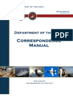 5216.5 Navy Correspondence Manual (2010)