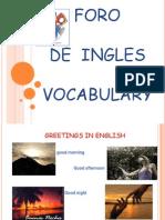 Vocabulario Ingles..