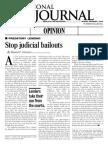 Stop Judicial Bailouts