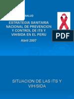 Estrategia Sanitaria Nacional de Prevención y Control de ITS y VIH SIDA en El Perú