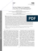 Pricing Services Subject to Congestion