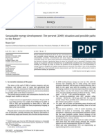 Sustainable Energy Development - The Present (2009) Situation and Possible Paths to the Future Published)