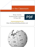 Wikis in the Classroom 34105 5123