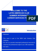Latam Internship Panel 9Nov11