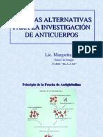 TÉCNICAS ALTERNATIVAS PARA LA INVESTIGACIÓN DE ANTICUERPOS
