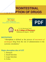 Absorption of Drugs