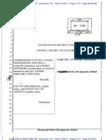 CALIF v City of LA Injunctive Relief Order