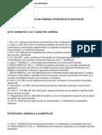 Lista Actelor Normative Din Domeniul Produselor Si Serviciilor Aliment Are