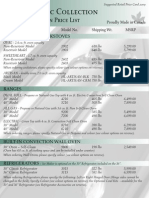 Classic Retail Price Card 2009 CDN ENG